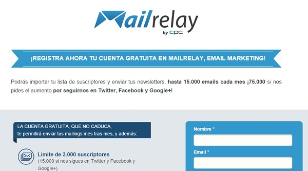 Newsletter y emailing con Mail Relay