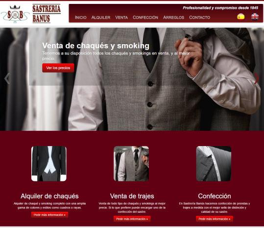 Desarrollo web en Marbella - Sastreria Banus