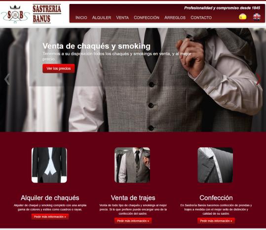Diseño web de tienda