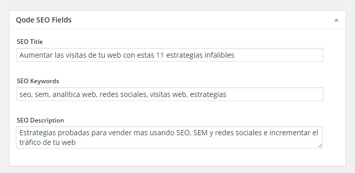 Metadatos de artículos en WordPress