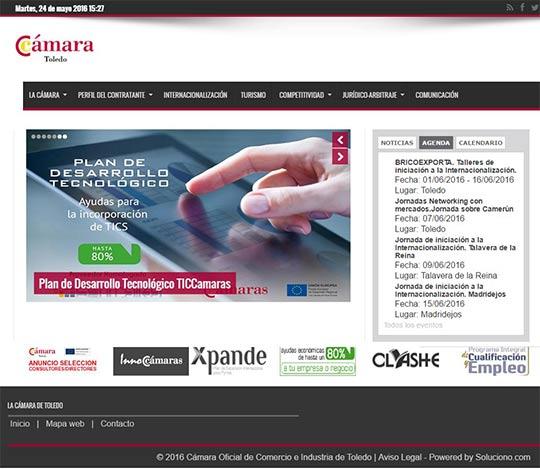 Programación de la web de la Cámara de Comercio de Toledo