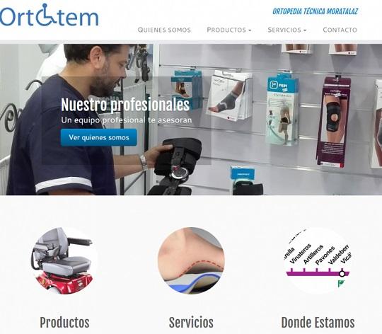 Diseño web para Ortopedia en Madrid